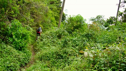 Namanya juga ADVENTURE, kami mengambil jalur tanah (single track) kembali ketika turun menuju Malang.