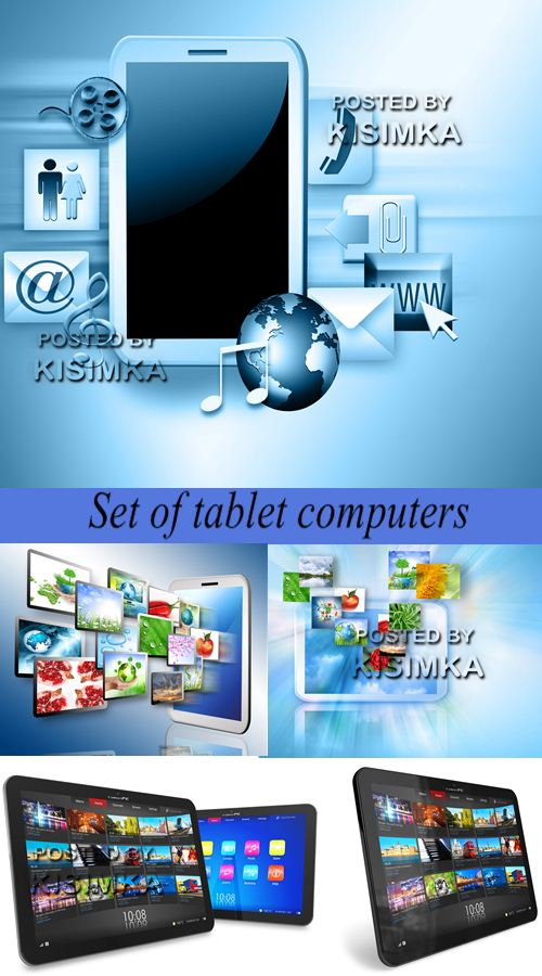 Stock Photo: Set of tablet computers