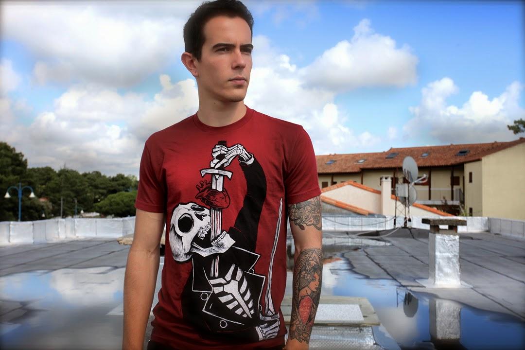 alternative style, skater style, skate tshirt brand, skeleton circus shirt, sword swallower shirt, circus horror shirt, skater circus