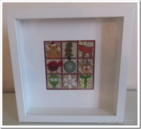 Christmas Patchwork Box FRame w