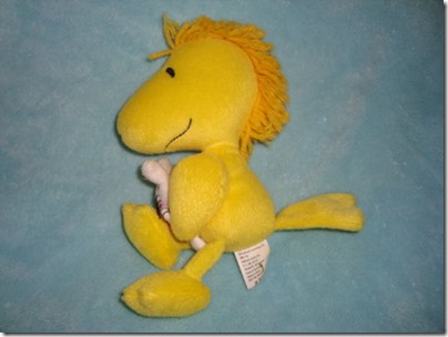 Woodstock Holding Bunny Plush Hallmark 8 inches