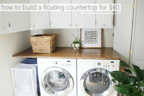 diy floating countertop