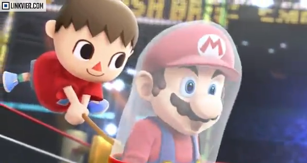 Mario got cought by the villager