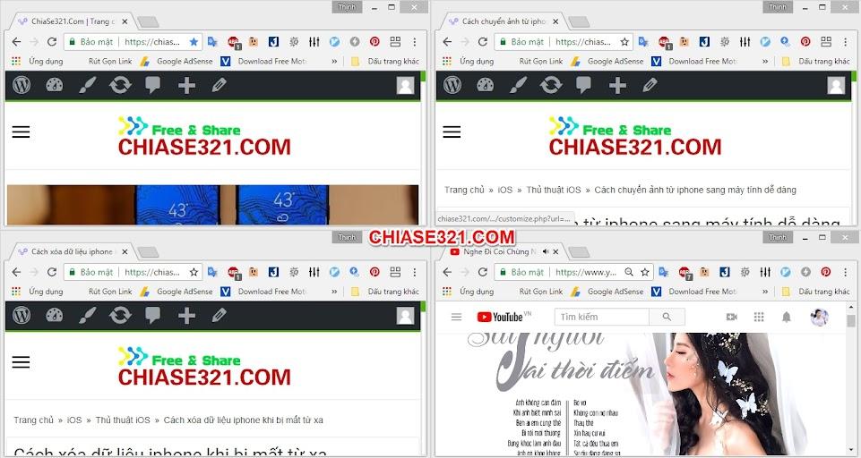 Cách chia nhiều màn hình trên trình duyệt Chrome