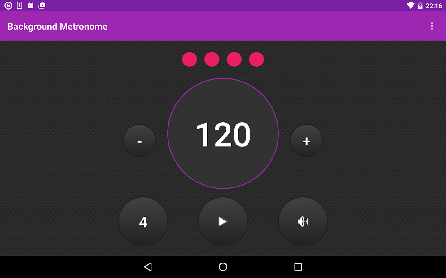 Background Metronome- screenshot