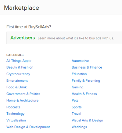 Buysellads Marketplace Directory
