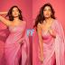 Noora Fatehi looks Dazzling in pinks Saree