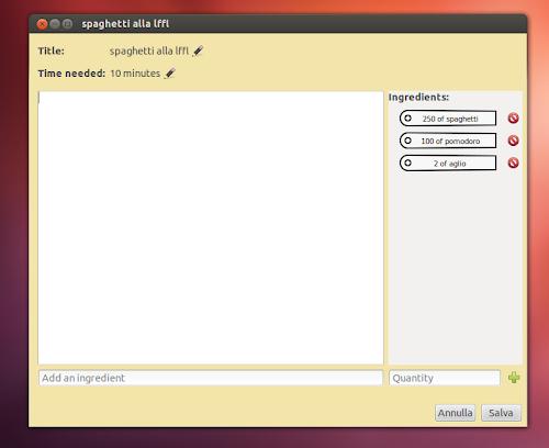 Tastebook su Ubuntu 12.04
