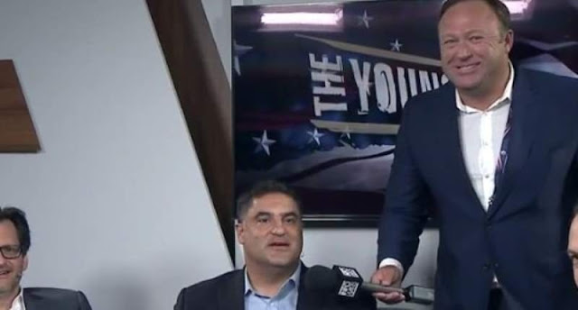 Alex Jones crashes progressive Young Turks set; melee ensues