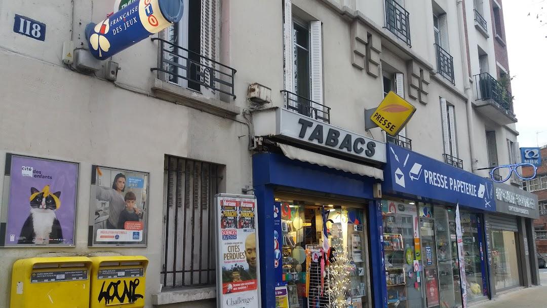 Tabac le voltigeur presse papeterie fdj bureau de tabac à paris