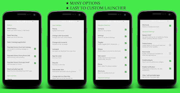 FAST LAUNCHER 2016-Fast, Simple - ONLY 400 KB - náhled