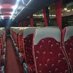 Het interieur van de VDL Futura Classic van Eurolines (GB)