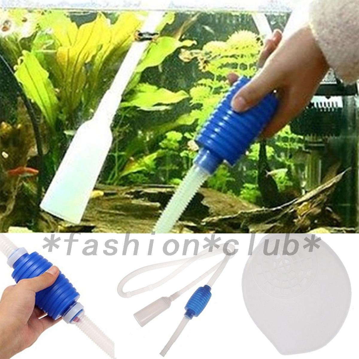 Portable aquarium clean vacuum water change gravel cleaner for How to clean fish tank rocks