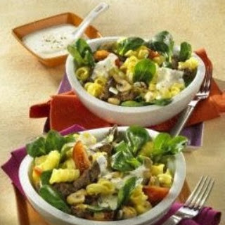 Winterlicher Nudelsalat mit Filet