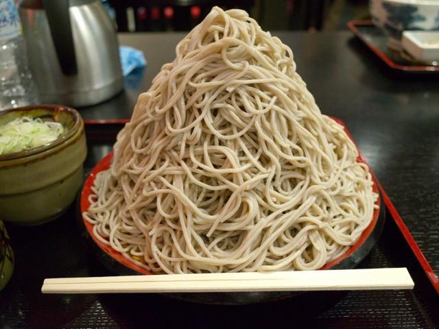 割り箸と富士山盛りの大きさ