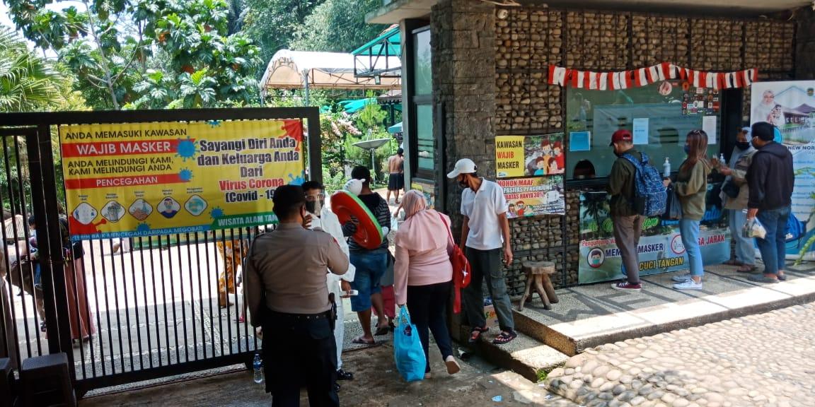 Liburan Panjang, Polres Purwakarta Sosialisasikan Prokes di Beberapa Obyek Wisata