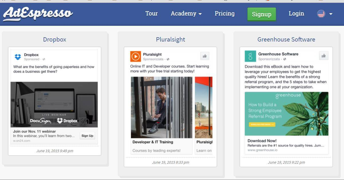 FB Ads Lead Generation Samples on Mobile