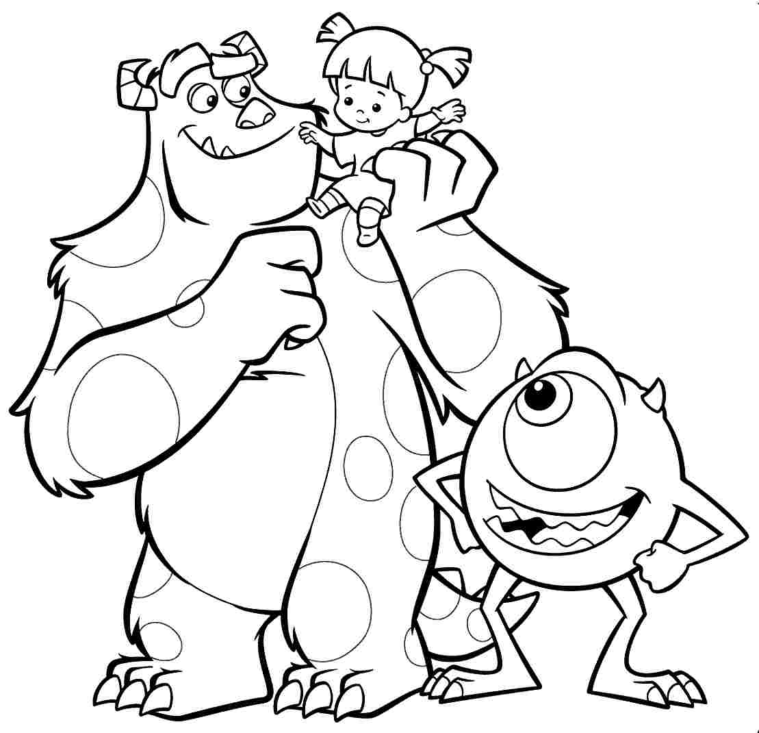 Best monsters inc coloring pages photos for Monster coloring pages