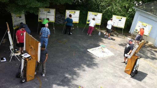 The students spent all day Tuesday working on paint-board techniques, and learned both an Adult evangelistic message, and a Kid's evangelistic message.