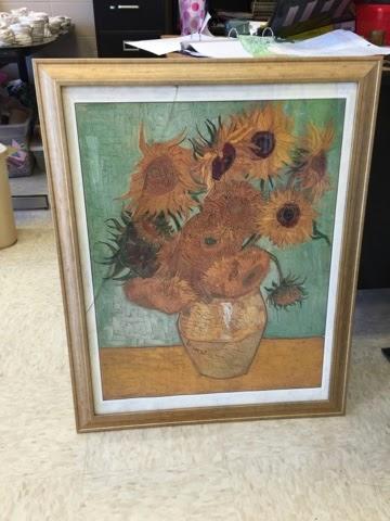 Kelsey Fortune | kelseyfortune.blogspot.com | Van Gogh Sunflowers Kindergarten Art Lesson
