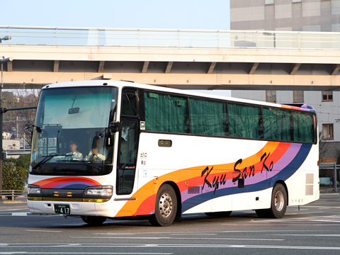 九州産交バス「サンライズ号」 ・417 熊本駅前にて