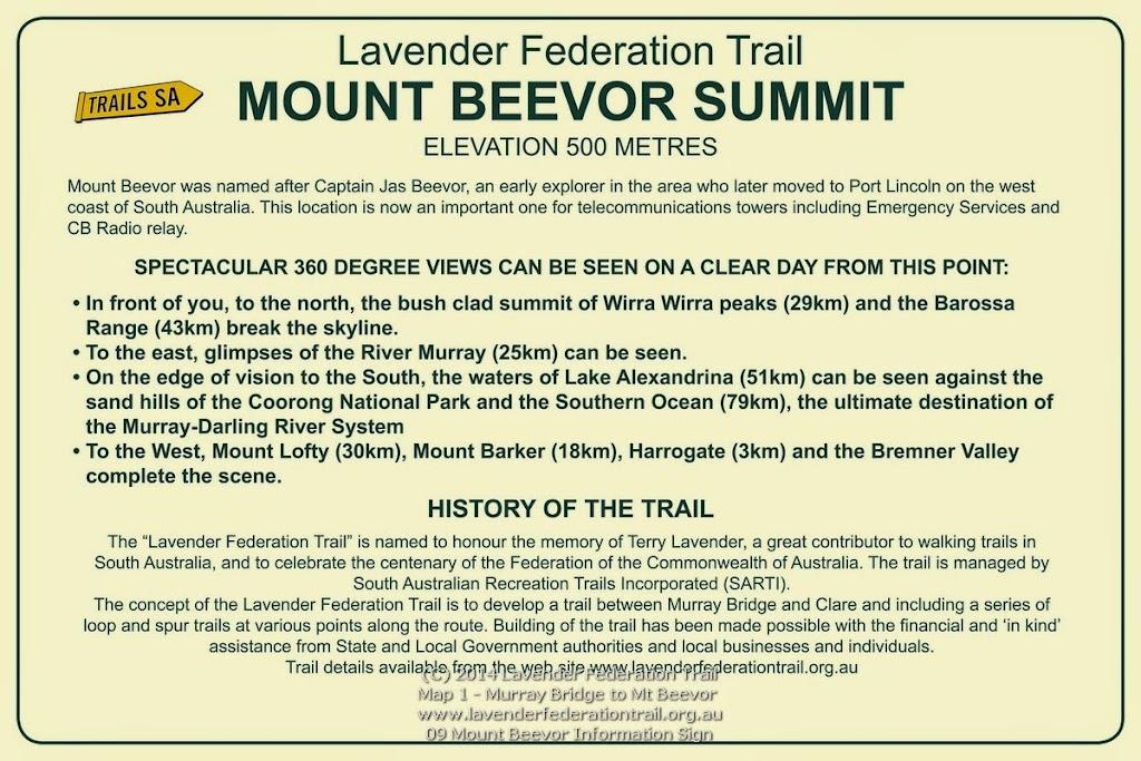 09 Mount Beevor Information Sign