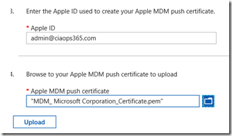 Adding Apple MDM push certificate to Intune – CIAOPS