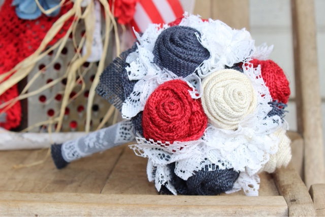 Americana theme wedding flowers