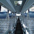 Het interieur van de Mercedes van Betuwe Express bus 173