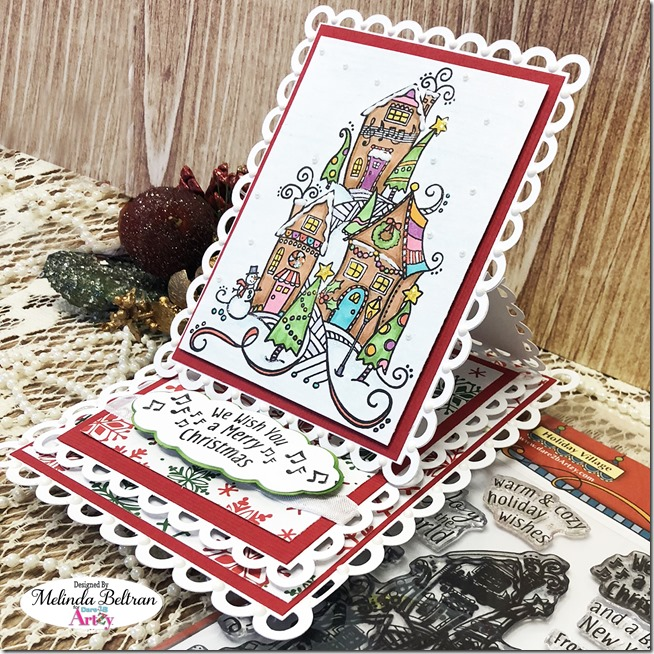 Christmas Card Dare2BArtzy Stamps