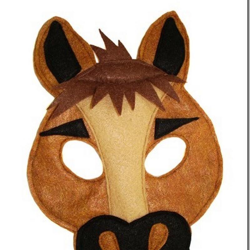 Careta de  caballo en color  para imprimir