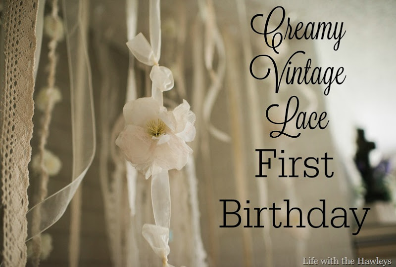 Creamy Vintage Lace First Birthday-2