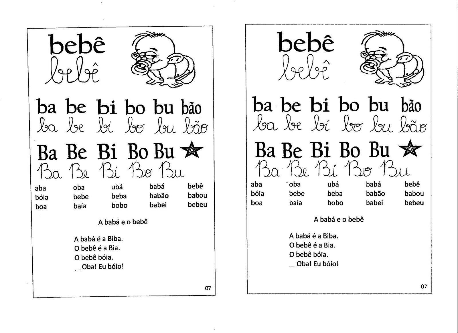 Top A Magia do Aprender/Ensinar: Ficha de leitura com as silabas simples. AI67