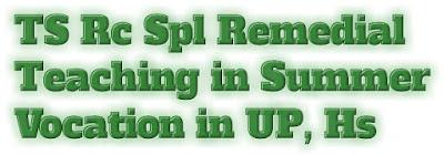 TS Rc Spl Mdm and Remedial Teaching