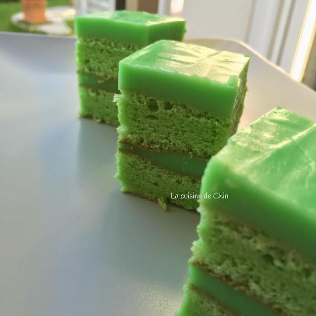 Pandan Custard Layer Cake Recipe