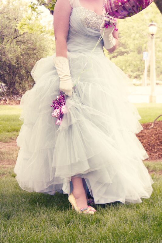 Cinderella blue tulle, taffeta and sequins | Lavender & Twill