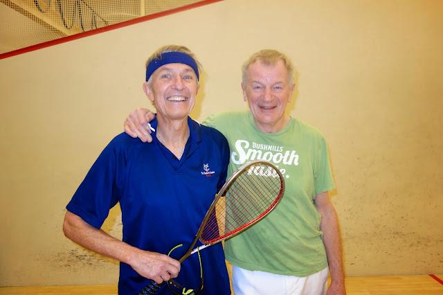 Men 70+ finalist Dan Hogan and winner Ned Monaghan