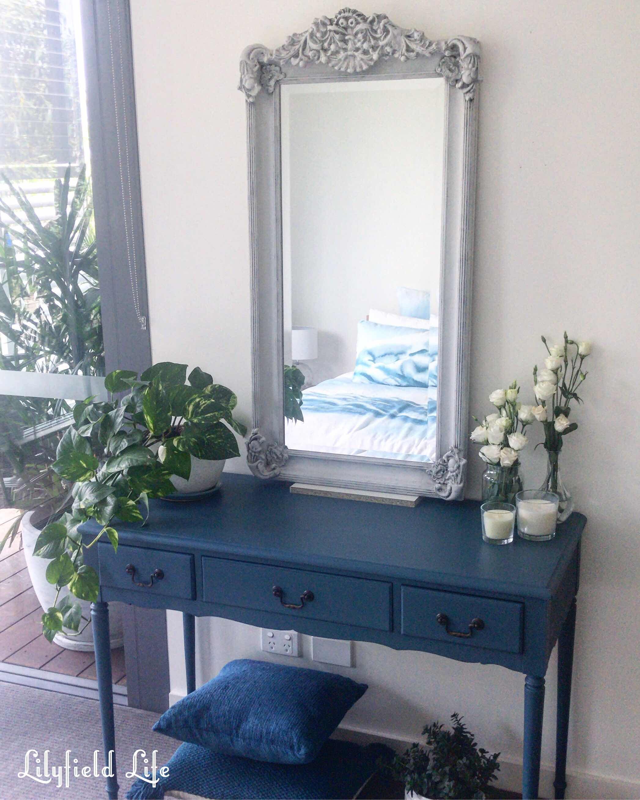 teal blue console table Lilyfield life