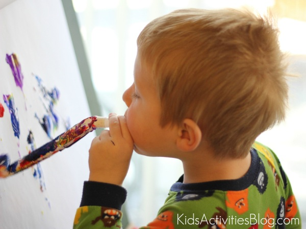Party Blower Painting From Kids Activity Blog