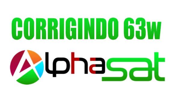Como corrigir SKS 63w Alphasat TX e Nexum - 06/03/2021