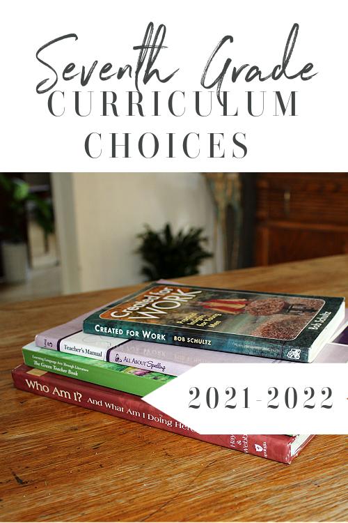 7th Grade Homeschool Curriculum Choices 2021-2022 #homeschool #homeschoolcurriculum