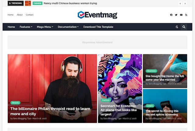 EventMag Free Website Template