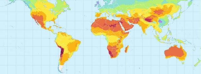 خريطة الاشعاع الشمسي
