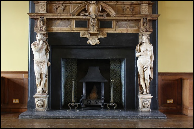 Charlton House - fireplace in the saloon