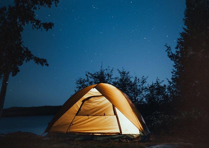 Tent onder de sterren