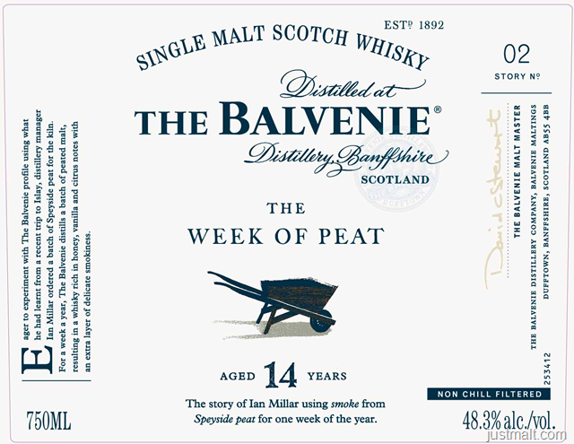 The Balvenie Week Of Peat 14-Year Single Malt Scotch Whiskey
