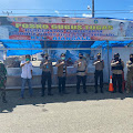 Danyon Brimob Bone Bersama Ketua PN Watampone dan Danramil 1407-07 Pantau Posko Perbatasan Sekaligus Halal Bihalal