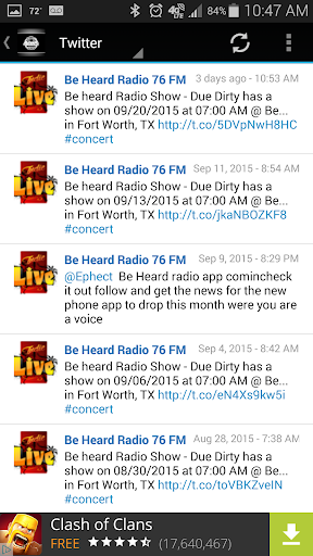Be Heard Radio 76 FM  screenshots 3