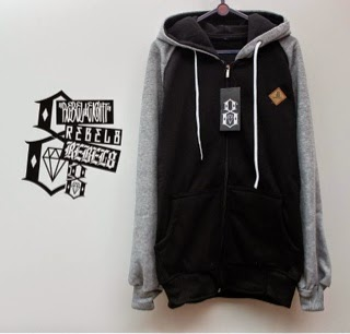 Jaket Rebel8 Black Grey