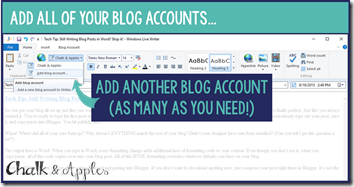 5- Add Blog Accounts
